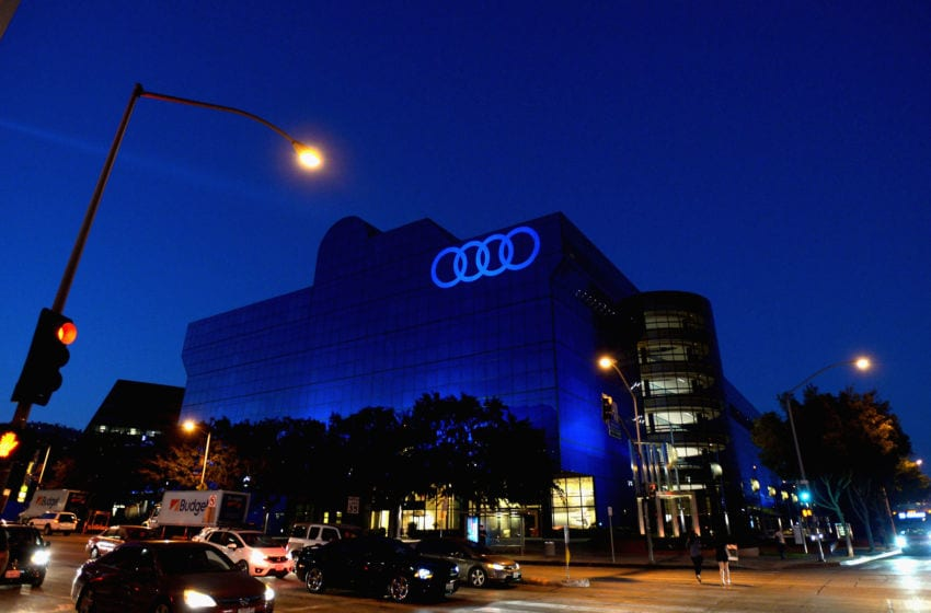 WEST HOLLYWOOD, CA - SEPTEMBER 15: The Audi logo is seen during the Audi Celebrates The 68th Emmys at Catch LA on September 15, 2016 in West Hollywood, California. (Photo by Charley Gallay/Getty Images for Audi)