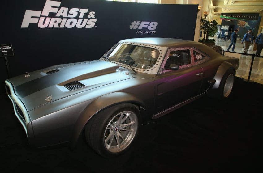 LAS VEGAS, NV - JUNE 22: The character Dominic Toretto's 'Ice Charger' from the upcoming movie 'Fast and Furious: Fast 8' is displayed at the Licensing Expo 2016 at the Mandalay Bay Convention Center on June 22, 2016 in Las Vegas, Nevada. (Photo by Gabe Ginsberg/Getty Images)