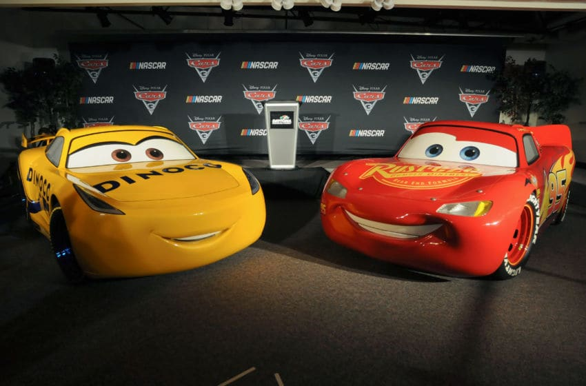 DAYTONA BEACH, FL - FEBRUARY 23: View of the 'Cars 3' NASCAR Collaboration Announcement on February 23, 2017 in Daytona Beach, Florida. (Photo by Gerardo Mora/Getty Images for Disney)