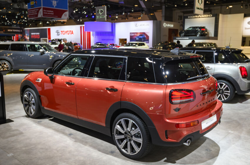 BRUSSELS, BELGIUM - JANUARY 9: MINI Clubman compact station wagon on display at Brussels Expo on January 9, 2020 in Brussels, Belgium. The Clubman is the estate version of the MINI model range (Photo by Sjoerd van der Wal/Getty Images)