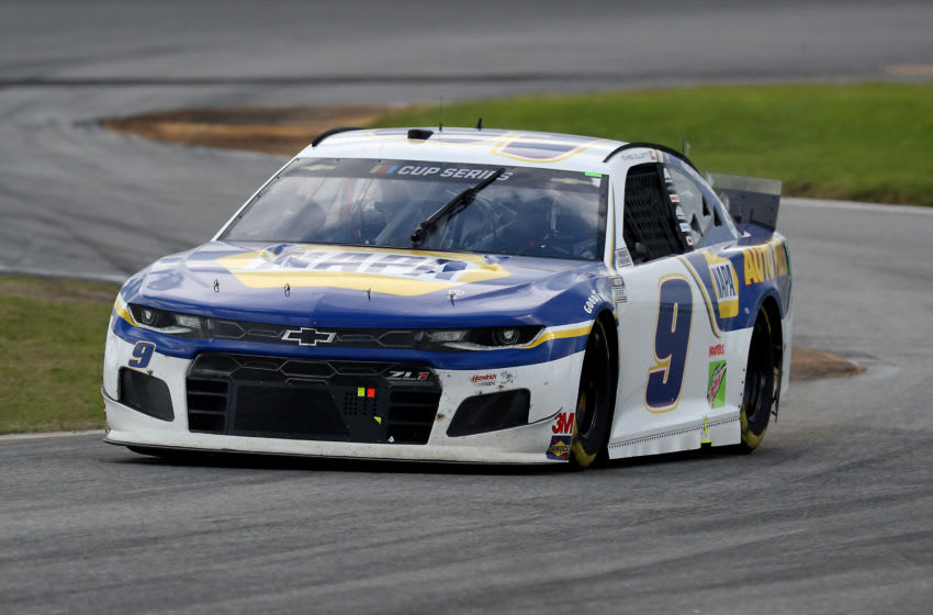 DAYTONA BEACH, FLORIDA - AUGUST 16: Chase Elliott, driver of the #9 NAPA Auto Parts Chevrolet, drives during the NASCAR Cup Series Go Bowling 235 at Daytona International Speedway on August 16, 2020 in Daytona Beach, Florida. (Photo by Chris Graythen/Getty Images)