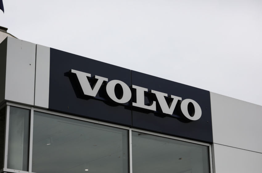 FRANKFURT AM MAIN, GERMANY - SEPTEMBER 03: Volvo sign is seen on September 03, 2020 in Frankfurt am Main, Germany. Germany is carefully lifting lockdown measures nationwide in an attempt to raise economic activity. (Photo by Jeremy Moeller/Getty Images)