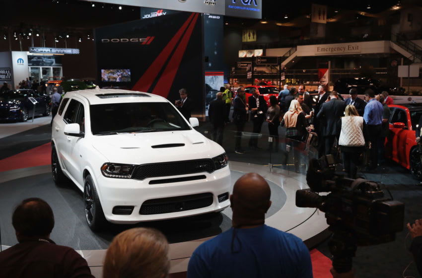 CHICAGO, IL - FEBRUARY 09: Fiat Chrysler Automobiles (FCA) introduces the 2018 Durango SRT, powered by a 475 hp 6.4-liter Hemi V8 engine, at the Chicago Auto Show on February 9, 2017 in Chicago, Illinois. The auto show, which is the nation's largest, is open to the public February 11-20. (Photo by Scott Olson/Getty Images)