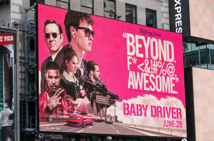 NEW YORK, NY - JUNE 10: A billboard promoting the new movie