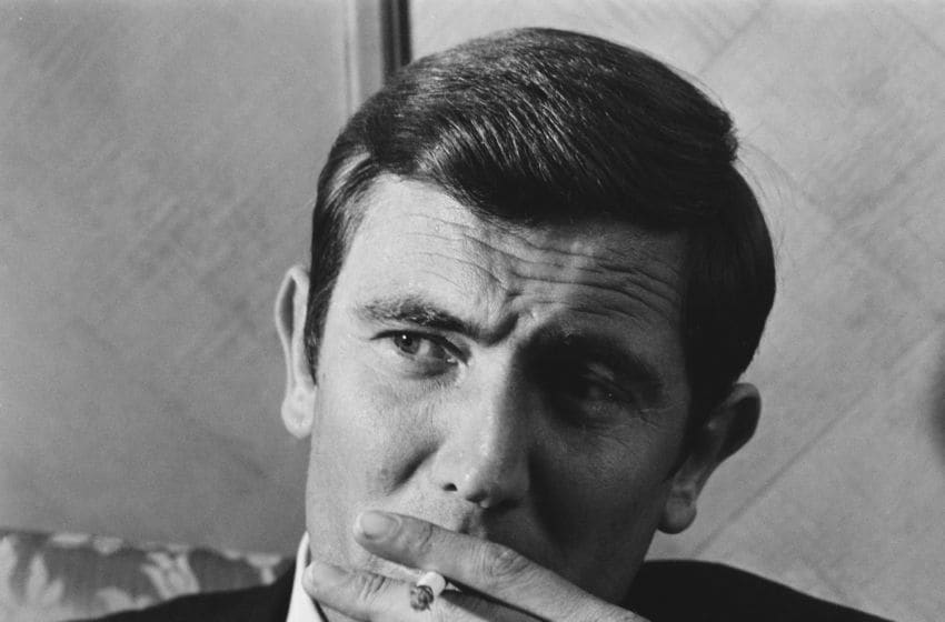 Australian actor and former fashion model George Lazenby, who is the new 'James Bond', at a reception at Dorchester Hotel, UK, 8th October 1968. (Photo by Larry Ellis/Daily Express/Getty Images)