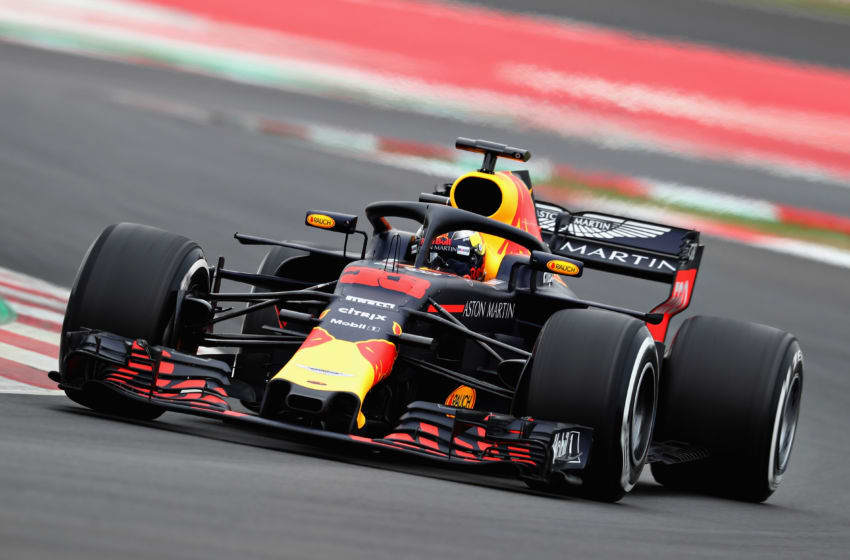 MONTMELO, SPAIN - FEBRUARY 27: Max Verstappen of the Netherlands driving the (33) Aston Martin Red Bull Racing RB14 TAG Heuer on track during day two of F1 Winter Testing at Circuit de Catalunya on February 27, 2018 in Montmelo, Spain. (Photo by Mark Thompson/Getty Images)