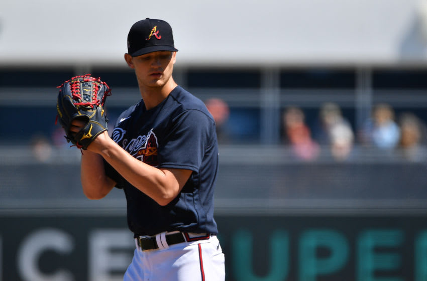 VENICE, FLORIDA - FEBRUARY 28: Mike Soroka #40 of the Atlanta Braves delivers a pitch in the first inning during the spring training game against the New York Yankees at Cool Today Park on February 28, 2020 in Venice, Florida. (Photo by Mark Brown/Getty Images)