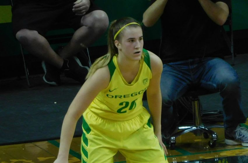 Oregon Ducks Sabrina Ionescu defends vs Ole Miss. Justin Phillips/KPNW Sports