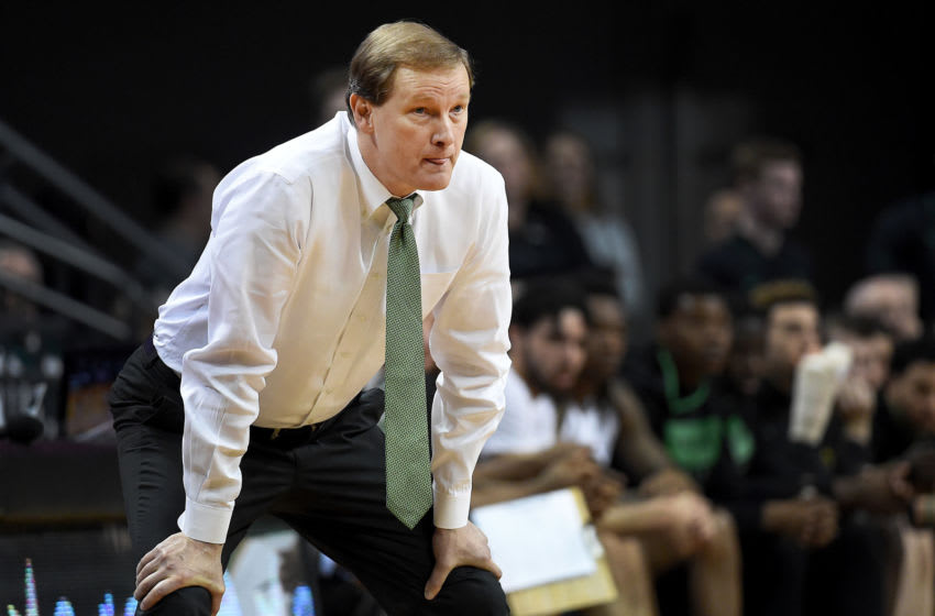 EUGENE, OREGON - FEBRUARY 27: Head coach Dana Altman of the Oregon Ducks looks on from the sideline during the second half against the Oregon State Beavers at Matthew Knight Arena on February 27, 2020 in Eugene, Oregon. Oregon won 69-54. (Photo by Steve Dykes/Getty Images)