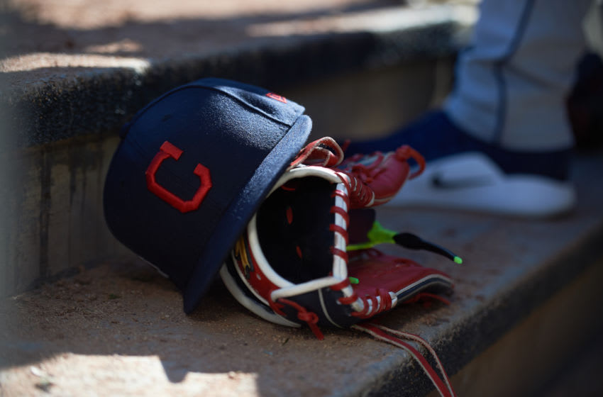Cleveland Indians hat (Photo by Hannah Foslien/Getty Images)