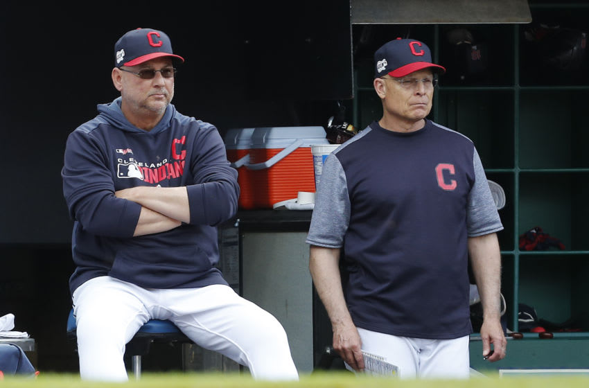 Bench Coach Brad Mills #00 of the Cleveland Indians (Photo by David Maxwell/Getty Images)