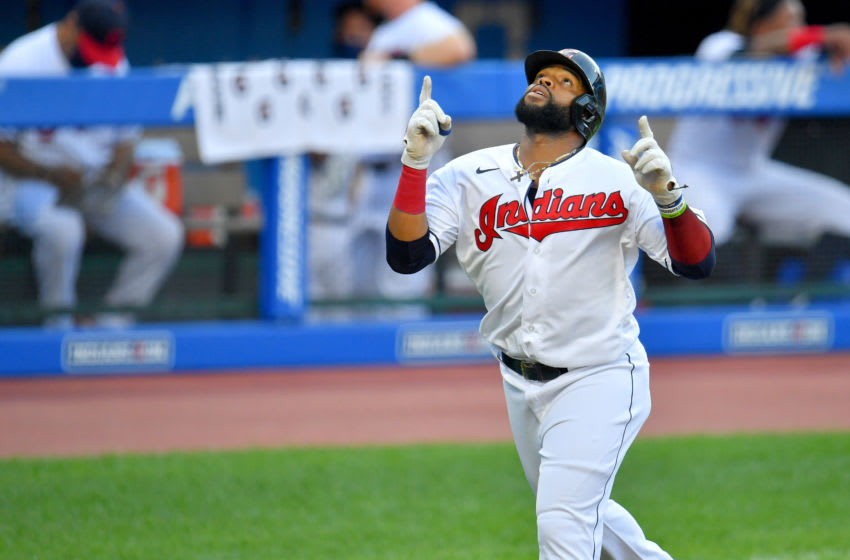 Carlos Santana #41 of the Cleveland Indians (Photo by Jason Miller/Getty Images)