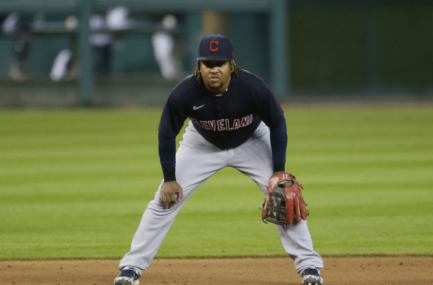 Third baseman Jose Ramirez #11 of the Cleveland Indians (Photo by Duane Burleson/Getty Images)