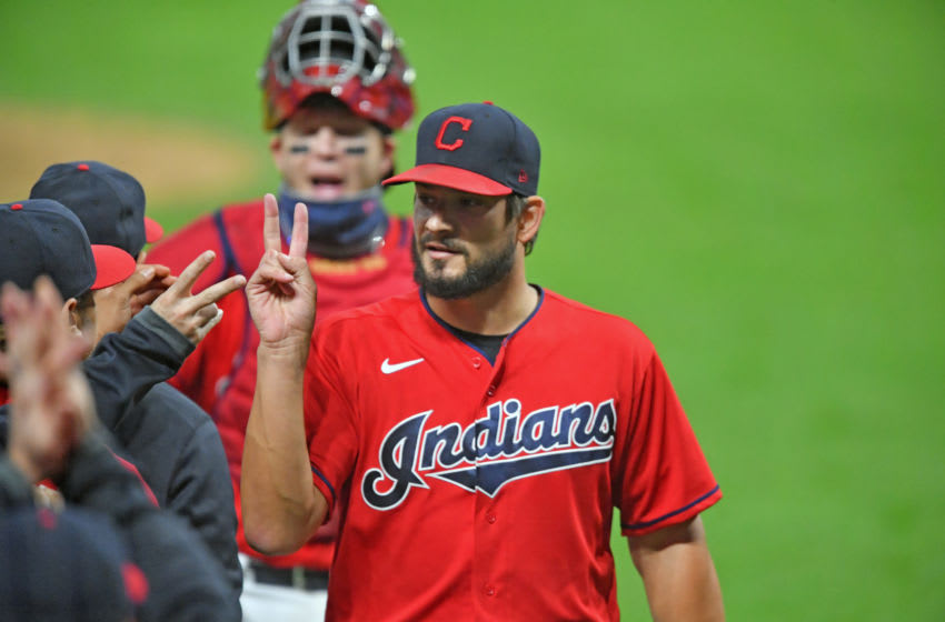 Brad Hand #33 of the Cleveland Indians (Photo by Jason Miller/Getty Images)