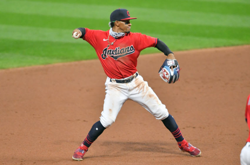 Shortstop Francisco Lindor #12 of the Cleveland Indians (Photo by Jason Miller/Getty Images)