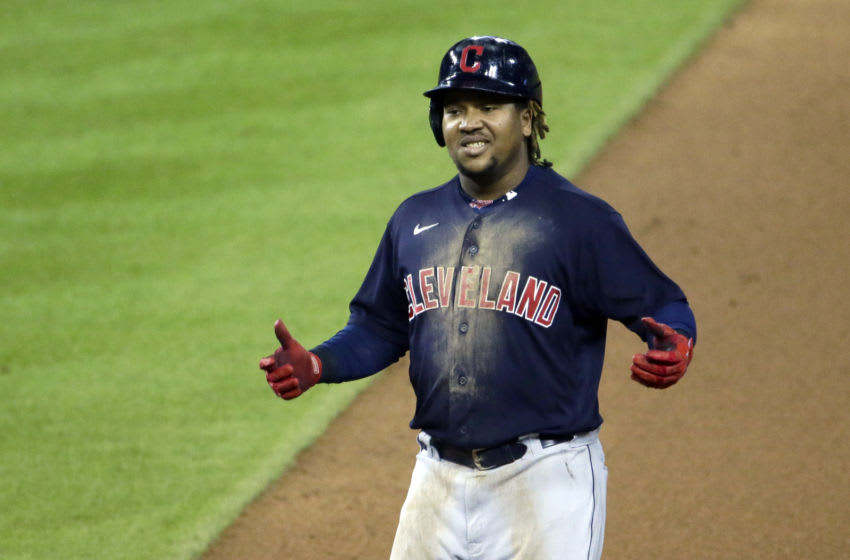 Jose Ramirez #11 of the Cleveland Indians (Photo by Duane Burleson/Getty Images)