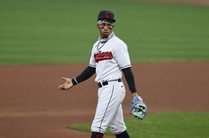 Francisco Lindor #12 of the Cleveland Indians (Photo by Ron Schwane/Getty Images)