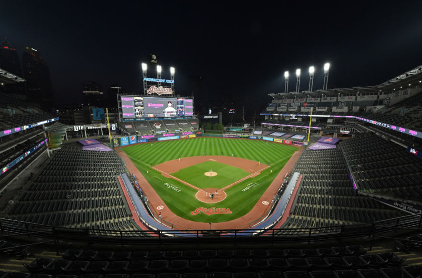CLEVELAND, OHIO - SEPTEMBER 25: A general view of Progressive Field during the second inning of the game between the Cleveland Indians and the Pittsburgh Pirates on September 25, 2020 in Cleveland, Ohio. The Indians defeated the Pirates 4-3. (Photo by Jason Miller/Getty Images)
