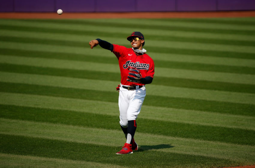 Francisco Lindor #12 of the Cleveland Indians (Photo by Kirk Irwin/Getty Images)