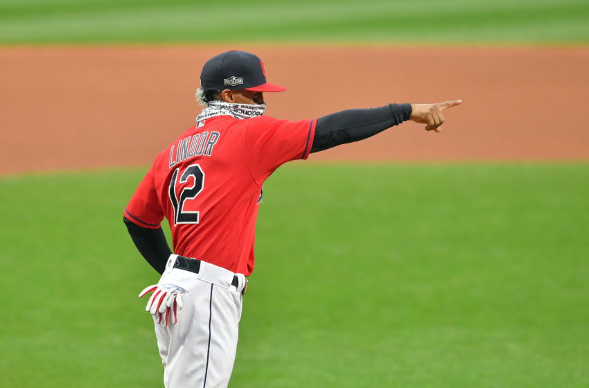 Francisco Lindor #12 of the Cleveland Indians (Photo by Jason Miller/Getty Images)
