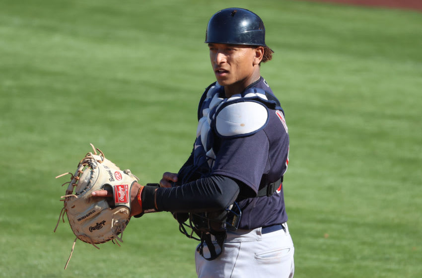Bo Naylor #80 of the Cleveland Indians (Photo by Abbie Parr/Getty Images)