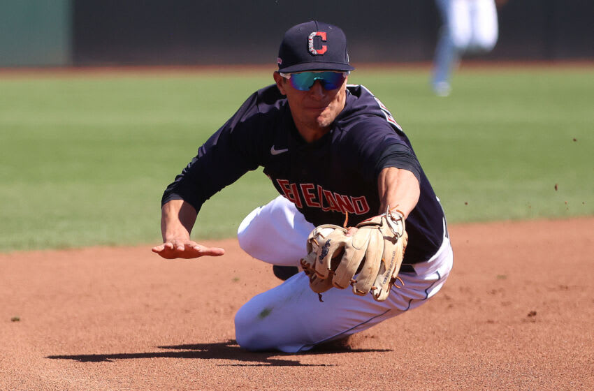 Tyler Freeman #68 of the Cleveland Indians (Photo by Abbie Parr/Getty Images)