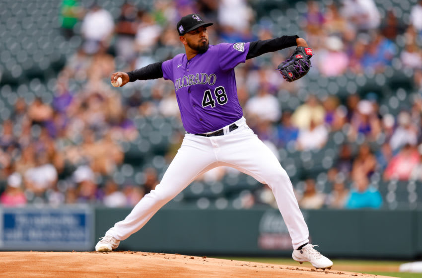 Starting pitcher German Marquez #48 of the Colorado Rockies (Photo by Justin Edmonds/Getty Images)