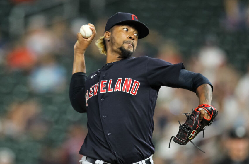 Emmanuel Clase #48 of the Cleveland Indians / Cleveland Guardians (Photo by David Berding/Getty Images)