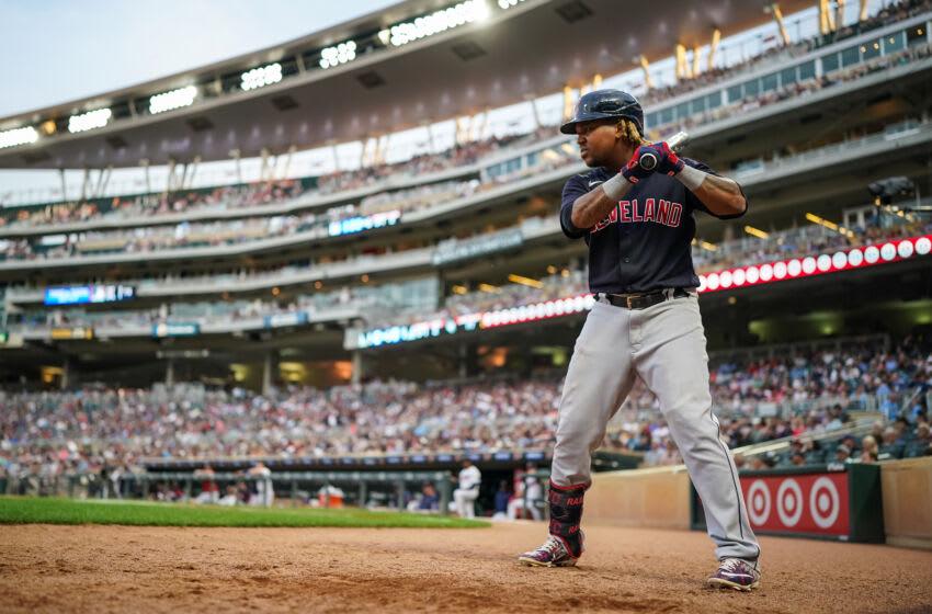 Jose Ramirez #11 of the Cleveland Indians (Photo by Brace Hemmelgarn/Minnesota Twins/Getty Images)