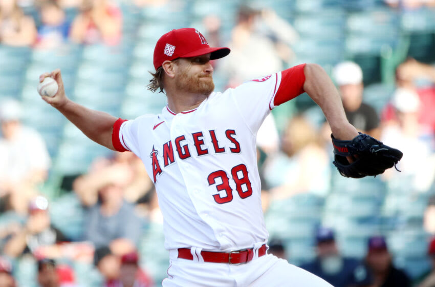 Alex Cobb #38 of the Los Angeles Angels (Photo by Katelyn Mulcahy/Getty Images)