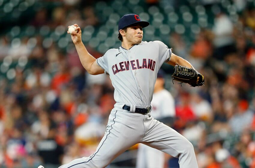 Eli Morgan #49 of the Cleveland Indians (Photo by Bob Levey/Getty Images)