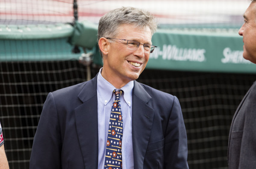 CLEVELAND, OH - JULY 30: Owner and CEO of the Cleveland Indians Paul Dolan prior to the Hall of Fame induction before the game between the Cleveland Indians and the Oakland Athletics at Progressive Field on July 30, 2016 in Cleveland, Ohio. (Photo by Jason Miller/Getty Images)