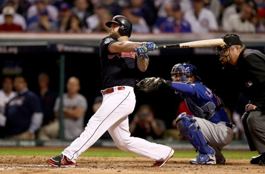Mike Napoli of the Cleveland Indians (Photo by Elsa/Getty Images)