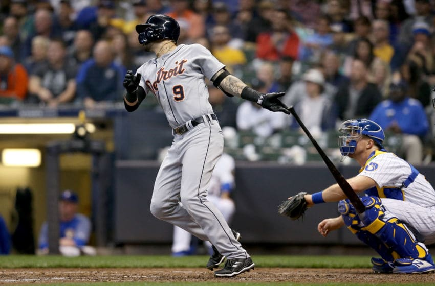 MILWAUKEE, WI - SEPTEMBER 29: Nicholas Castellanos #9 of the Detroit Tigers hits a home run in the fifth inning against the Milwaukee Brewers at Miller Park on September 29, 2018 in Milwaukee, Wisconsin. (Photo by Dylan Buell/Getty Images)