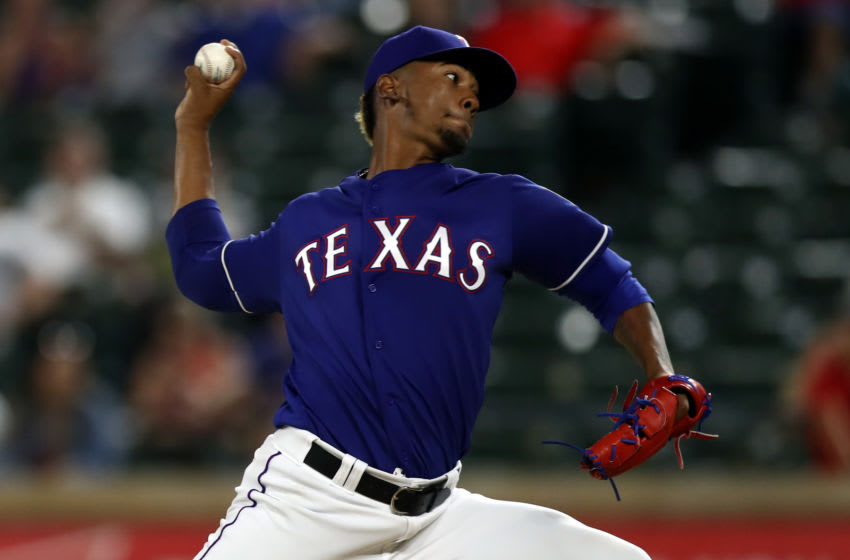 Emmanuel Clase has been suspended after being traded to the Cleveland Indians. (Photo by Ronald Martinez/Getty Images)