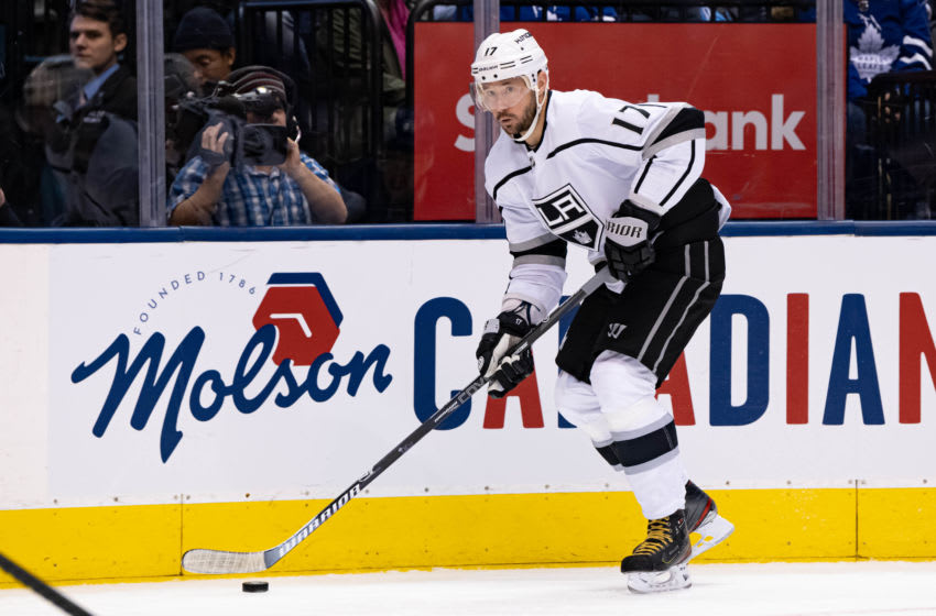 TORONTO, ON - NOVEMBER 05: Los Angeles Kings Left Wing Ilya Kovalchuk (17) skates with the puck during the NHL regular season game between the Los Angeles Kings and the Toronto Maple Leafs on November 5, 2019, at Scotiabank Arena in Toronto, ON, Canada. (Photo by Julian Avram/Icon Sportswire via Getty Images)