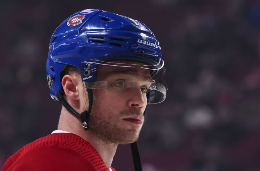 MONTREAL, QC - DECEMBER 11: Max Domi #13 of the Montreal Canadiens looks on during the warm-up against the Ottawa Senators at the Bell Centre on December 11, 2019 in Montreal, Canada. The Montreal Canadiens defeated the Ottawa Senators 3-2 in overtime. (Photo by Minas Panagiotakis/Getty Images)