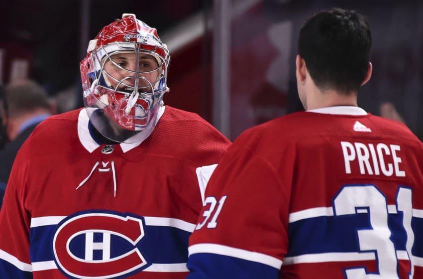 MONTREAL, QC - DECEMBER 11: Montreal Canadiens goaltender Cayden Primeau #30. (Photo by Minas Panagiotakis/Getty Images)