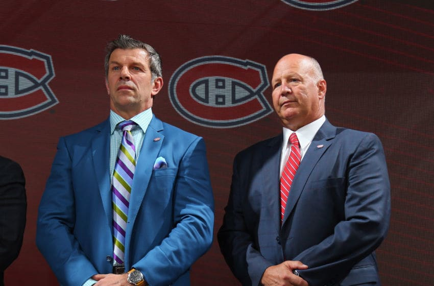 CHICAGO, IL - JUNE 23: (L-R) Marc Bergevin and Claude Julien of the Montreal Canadiens attend the 2017 NHL Draft at the United Center on June 23, 2017 in Chicago, Illinois. (Photo by Bruce Bennett/Getty Images)