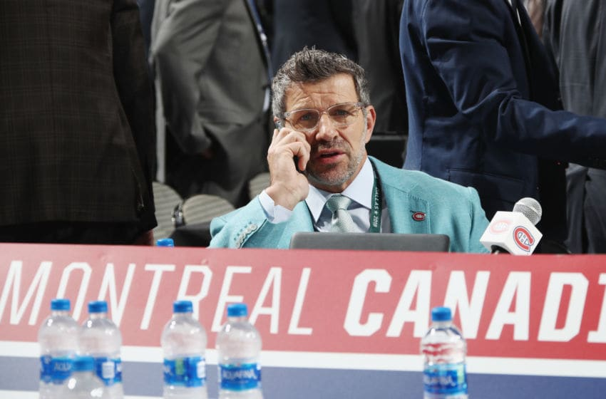 DALLAS, TX - JUNE 23: Marc Bergevin of the Montreal Canadiens attends the 2018 NHL Draft at American Airlines Center on June 23, 2018 in Dallas, Texas. (Photo by Bruce Bennett/Getty Images)