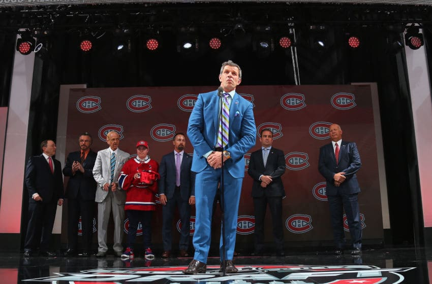 CHICAGO, IL - JUNE 23: Marc Bergevin of the Montreal Canadiens attends the 2017 NHL Draft at the United Center on June 23, 2017 in Chicago, Illinois. (Photo by Bruce Bennett/Getty Images)