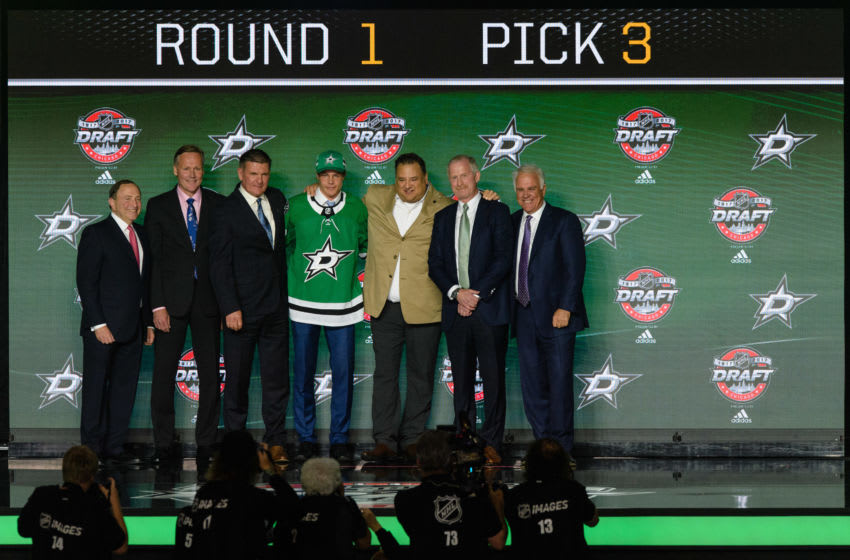 CHICAGO, IL - JUNE 23: The Dallas Stars select defenseman Miro Heiskanen with the 3rd pick in the first round of the 2017 NHL Draft on June 23, 2017, at the United Center in Chicago, IL. (Photo by Daniel Bartel/Icon Sportswire via Getty Images)