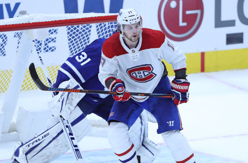 TORONTO, ON - JANUARY 13: Josh Anderson Montreal Canadiens (Photo by Claus Andersen/Getty Images)