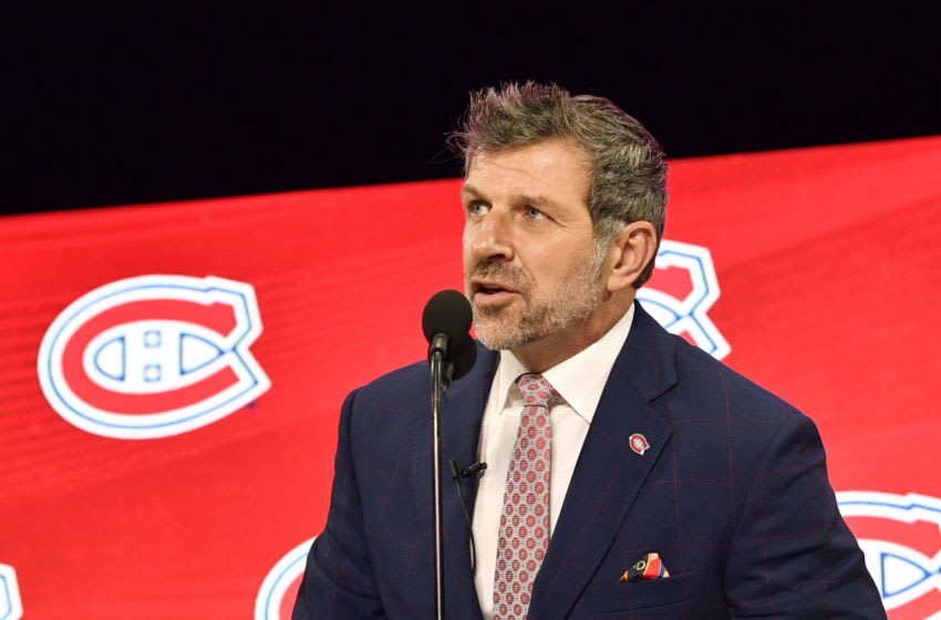 Jun 22, 2018; Dallas, TX, USA; Montreal Canadiens general manager Marc Bergevin Mandatory Credit: Jerome Miron-USA TODAY Sports