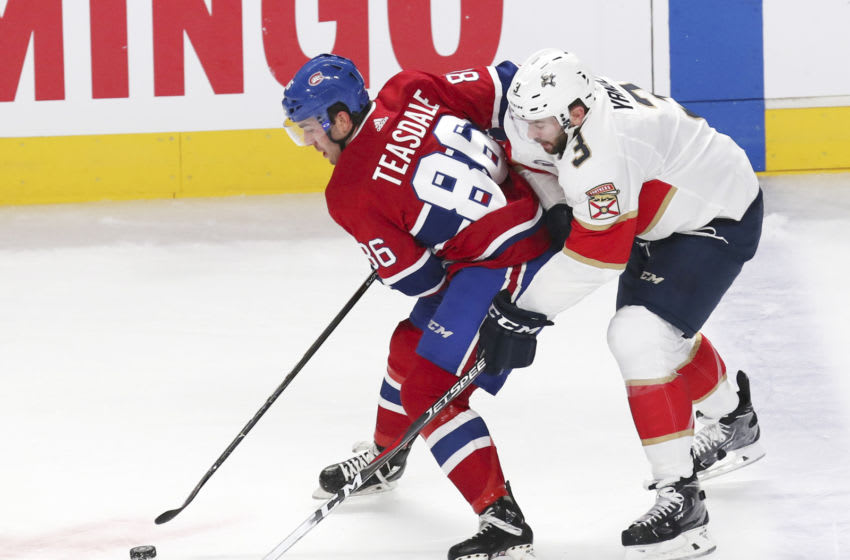 Sep 19, 2018; Montreal, Quebec, CAN; Montreal Canadiens left wing Joel Teasdale Mandatory Credit: Jean-Yves Ahern-USA TODAY Sports