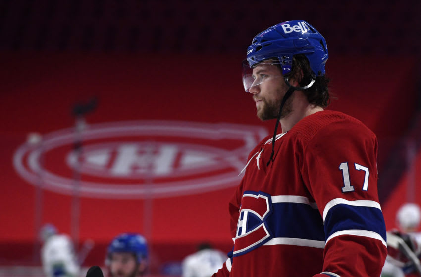 Feb 1, 2021; Montreal, Quebec, CAN; Montreal Canadiens Josh Anderson Mandatory Credit: Eric Bolte-USA TODAY Sports