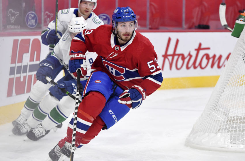 Feb 1, 2021; Montreal, Quebec, CAN; Montreal Canadiens Victor Mete. Mandatory Credit: Eric Bolte-USA TODAY Sports
