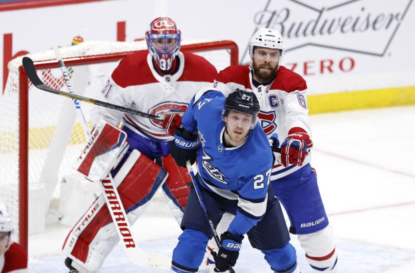 Mar 17, 2021; Winnipeg, Manitoba, CAN; Montreal Canadiens Shea Weber Mandatory Credit: James Carey Lauder-USA TODAY Sports