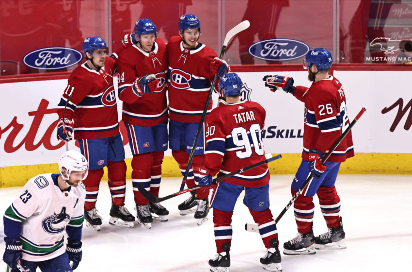 Mar 19, 2021; Montreal, Quebec, CAN; Montreal Canadiens. Mandatory Credit: Jean-Yves Ahern-USA TODAY Sports