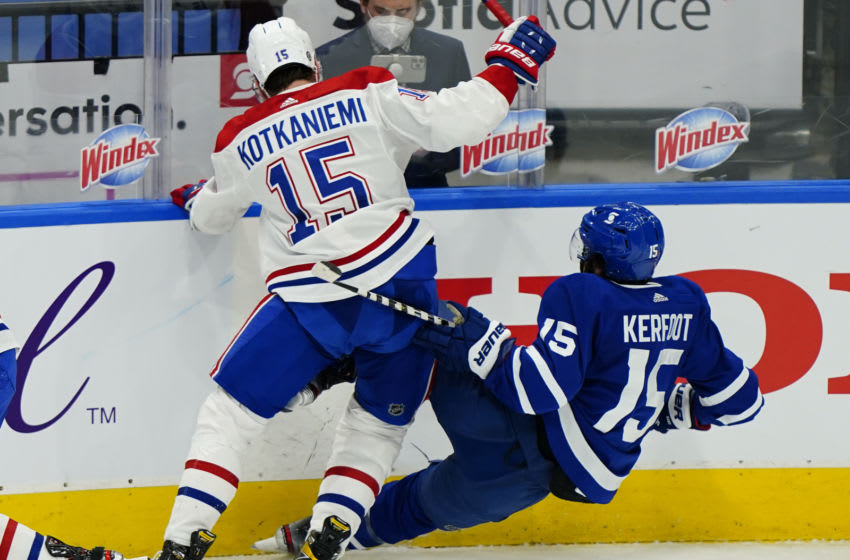 Apr 7, 2021; Toronto, Ontario, CAN; Montreal Canadiens Jesperi Kotkaniemi Mandatory Credit: John E. Sokolowski-USA TODAY Sports